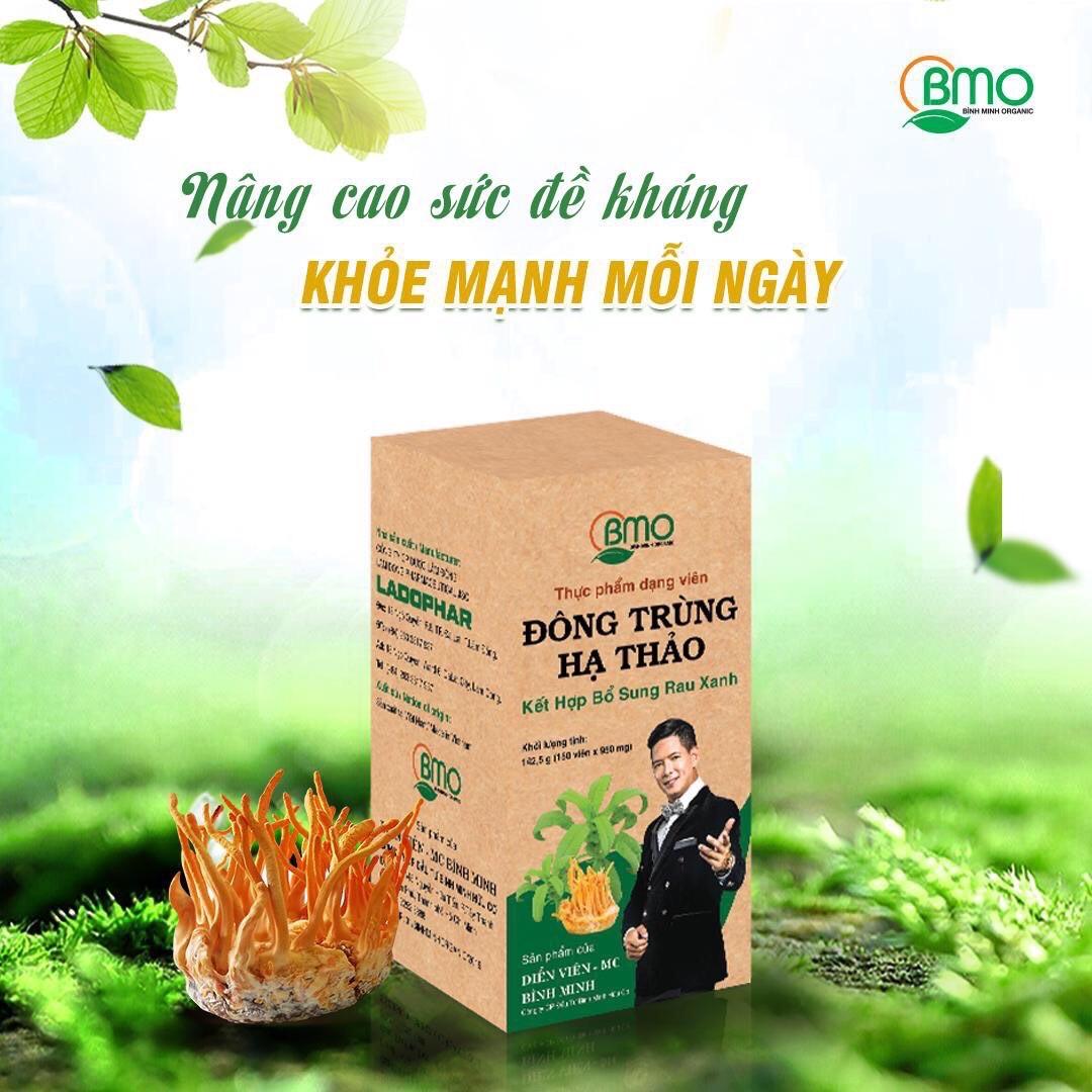 Đông trùng hạ thảo kết hợp bổ sung rau xanh ( Hộp 60 viên)